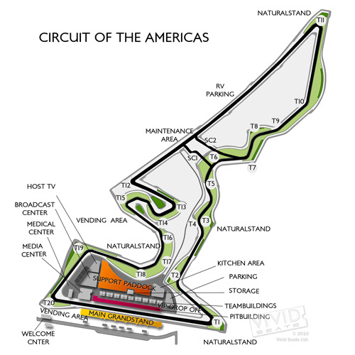 Circuits of The Americas Race Track
